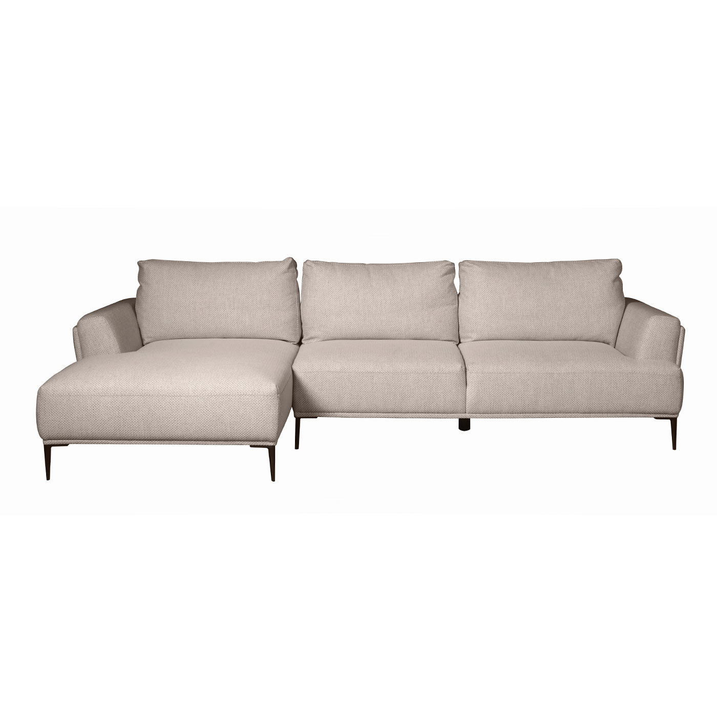 Belmont_3_Seater_Sofa_Left_Chaise_In_Light_Beige_Front_View_1