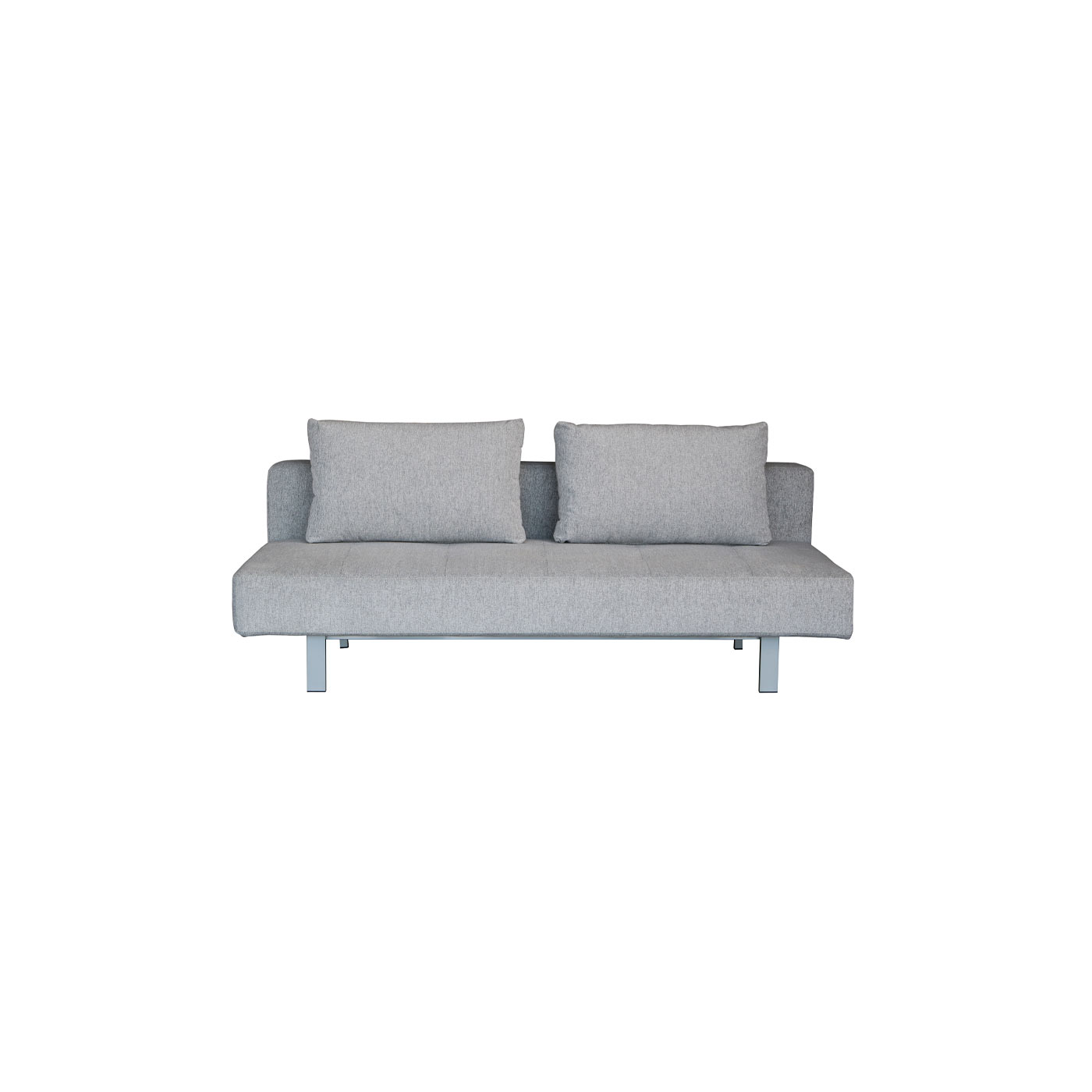 Hampstead_Sleeper_Sofa_In_Grey_Front_View_1